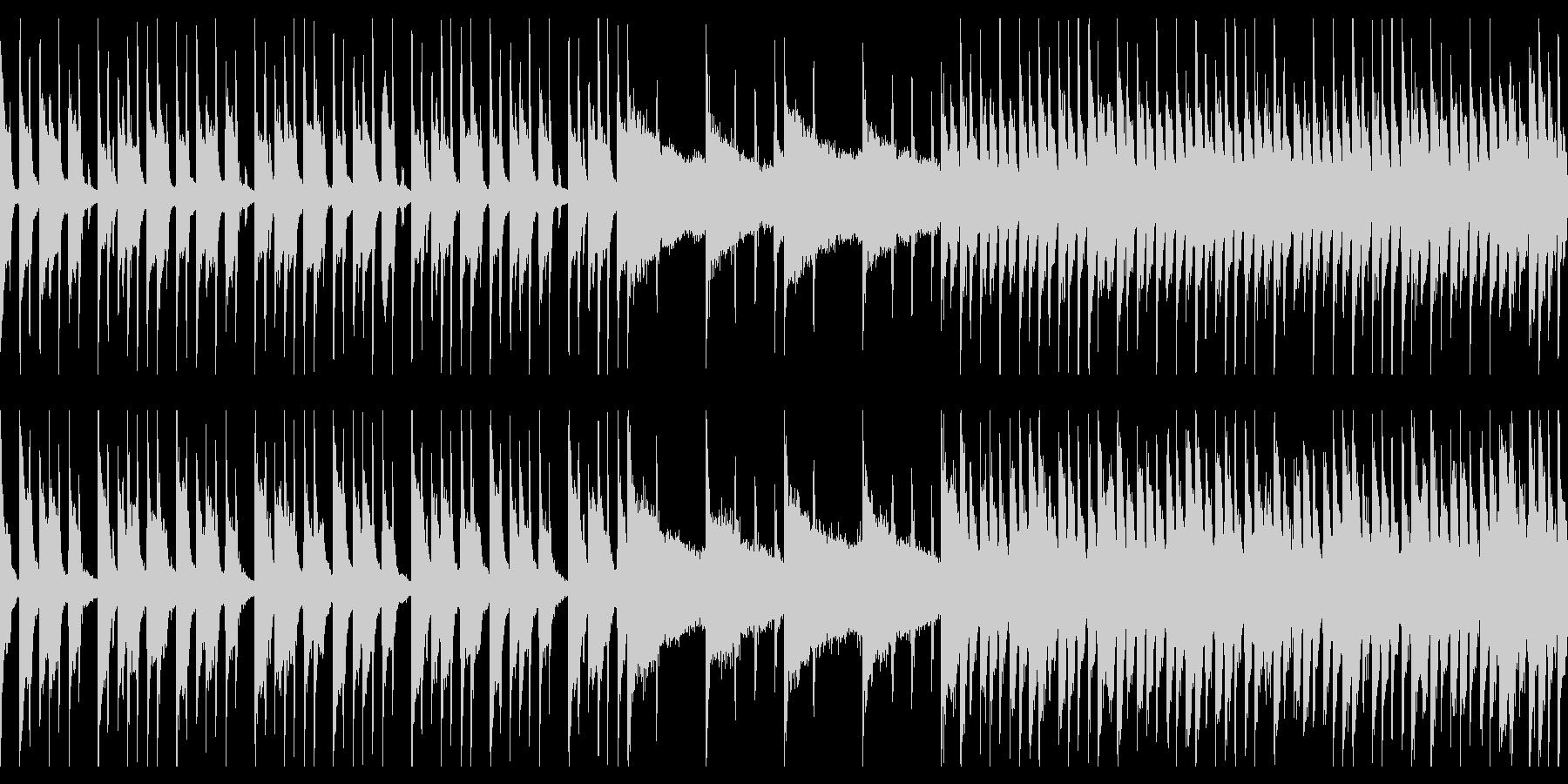 アップテンポで楽しいBGMの未再生の波形