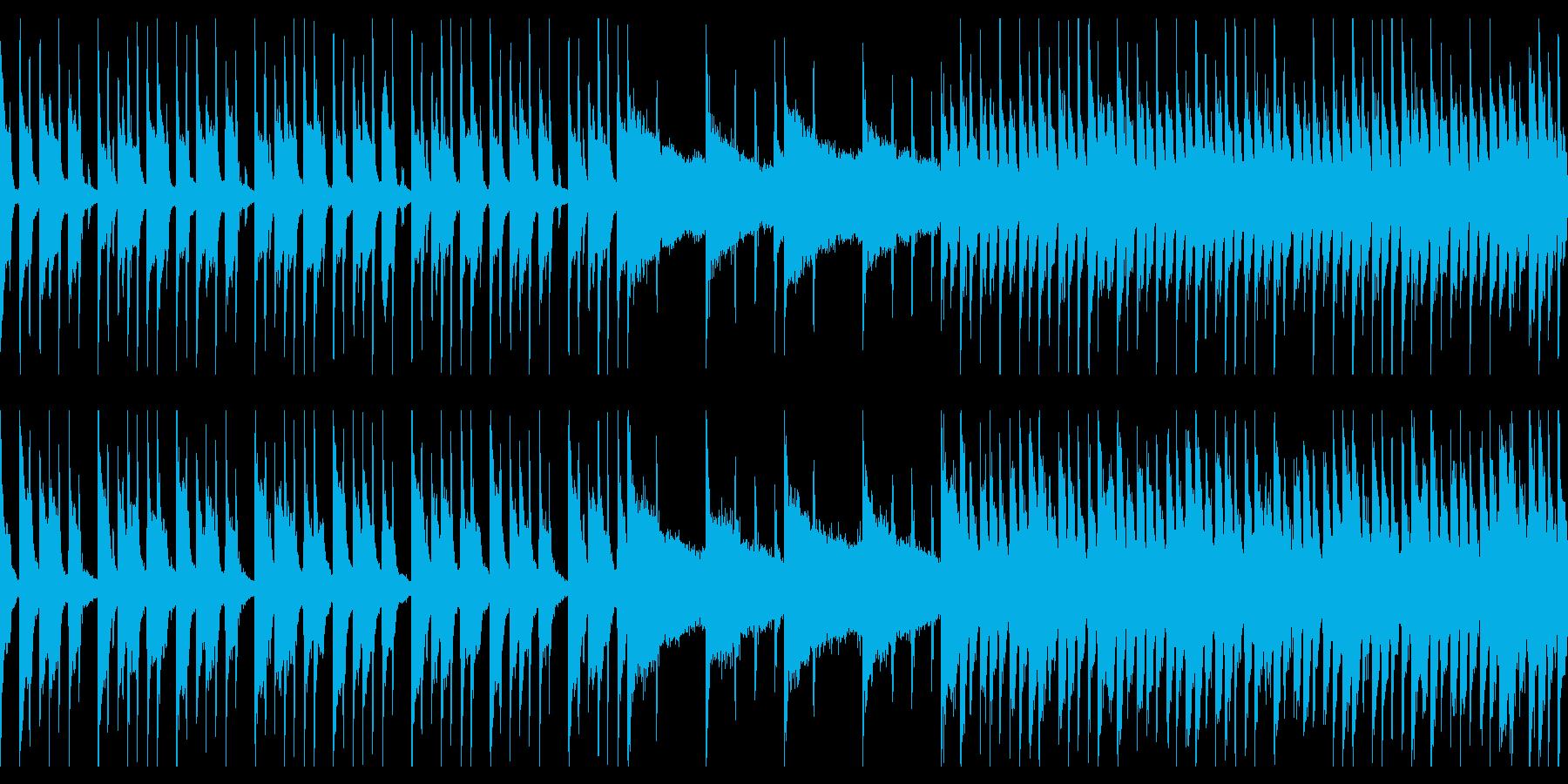 アップテンポで楽しいBGMの再生済みの波形