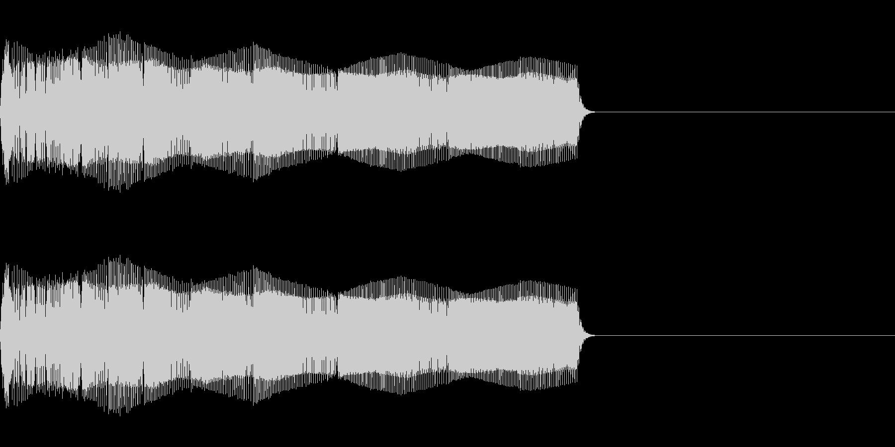 おもちゃの光線銃(電子音)の未再生の波形