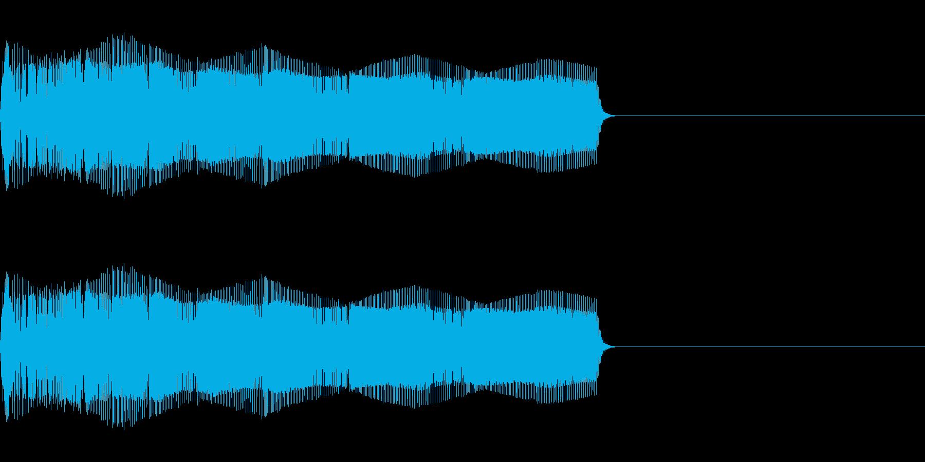 おもちゃの光線銃(電子音)の再生済みの波形