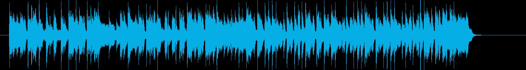 爽やかで勢いのあるシンセサイザーサウンドの再生済みの波形