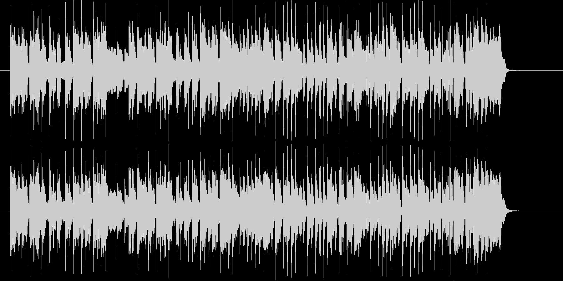 爽やかで勢いのあるシンセサイザーサウンドの未再生の波形