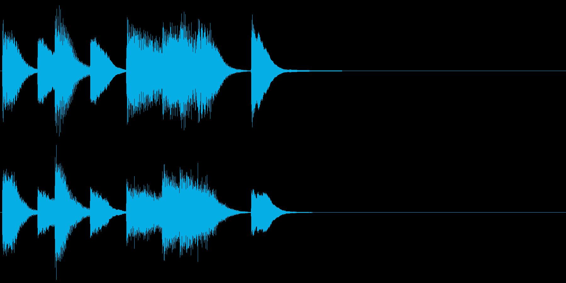 ピアノ ジングル01 プレーンの再生済みの波形