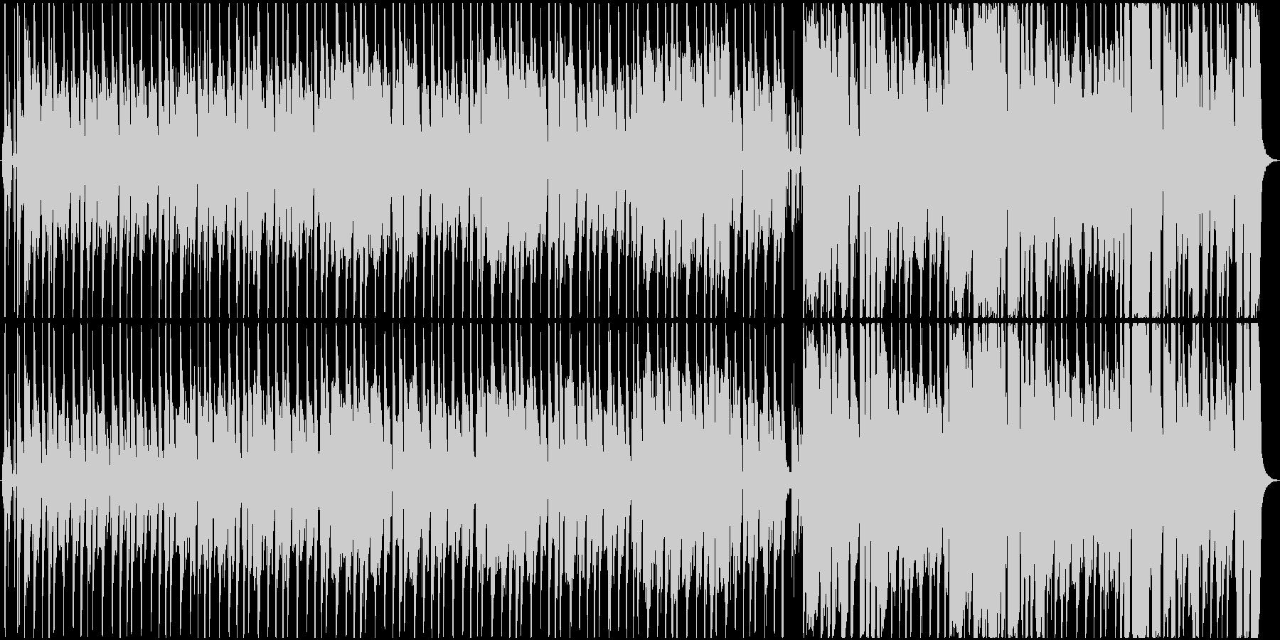 コミカル 気怠い感じのファンクの未再生の波形