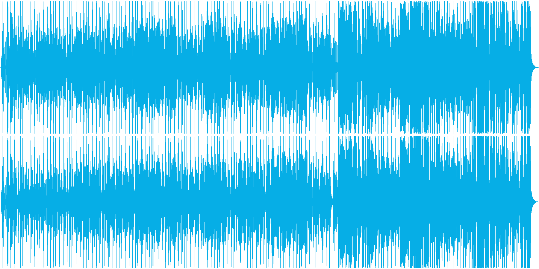 コミカル 気怠い感じのファンクの再生済みの波形