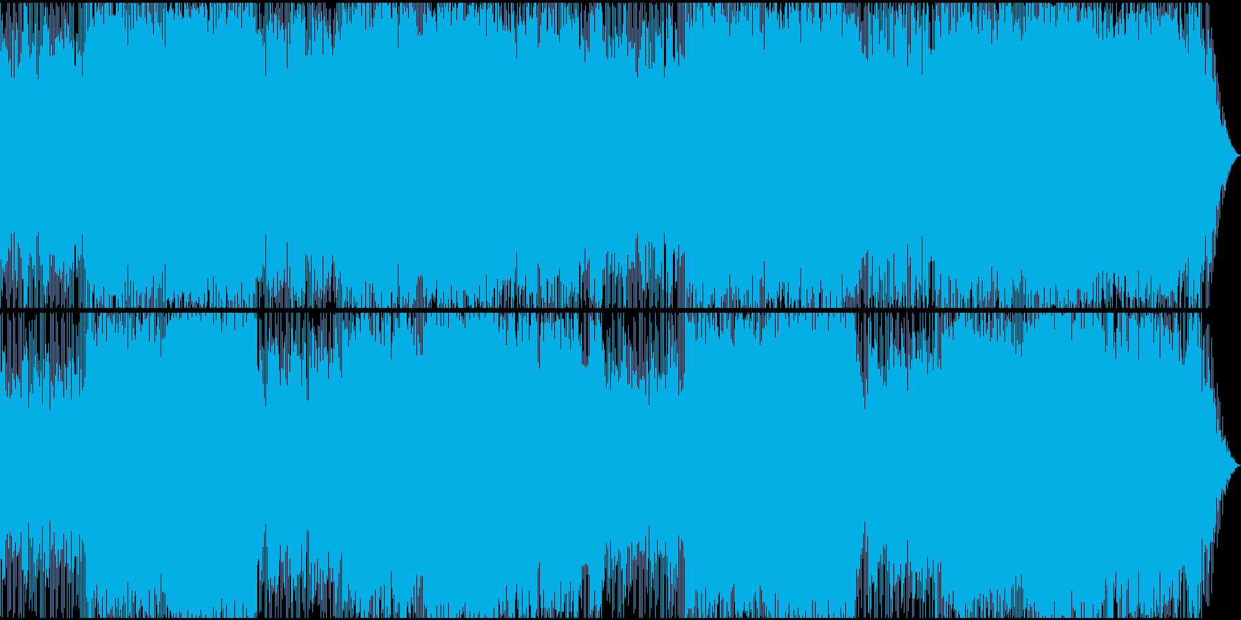 ギャングをイメージしたロックBGMの再生済みの波形