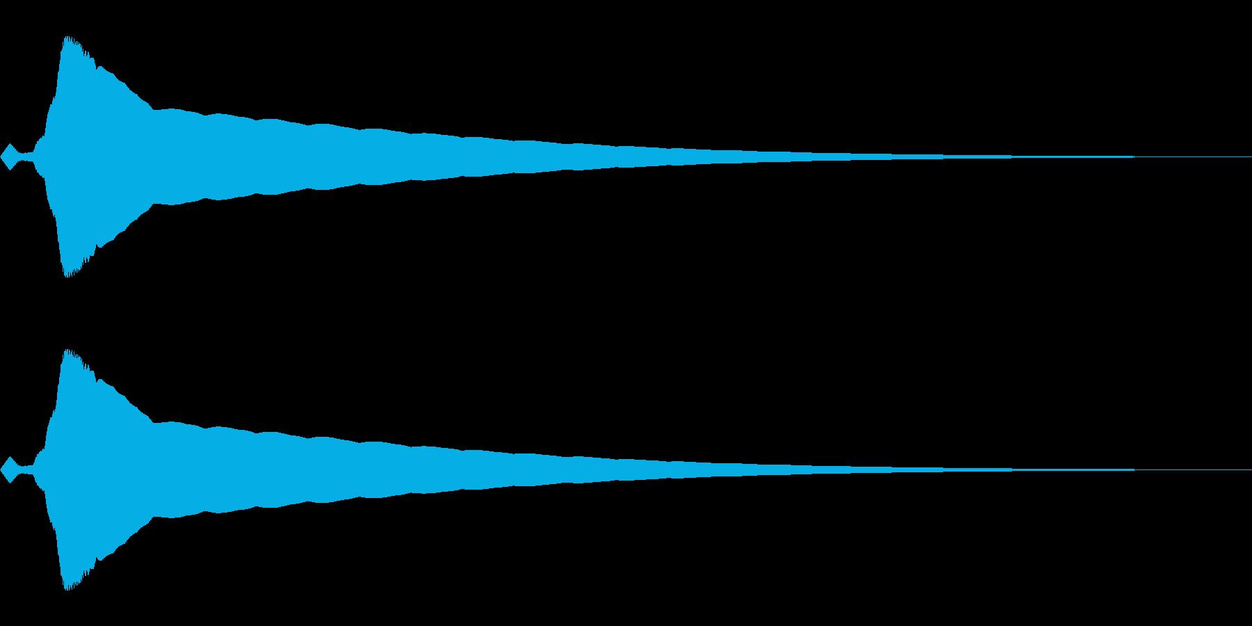 強調音、クリック音など(ピキーン)の再生済みの波形