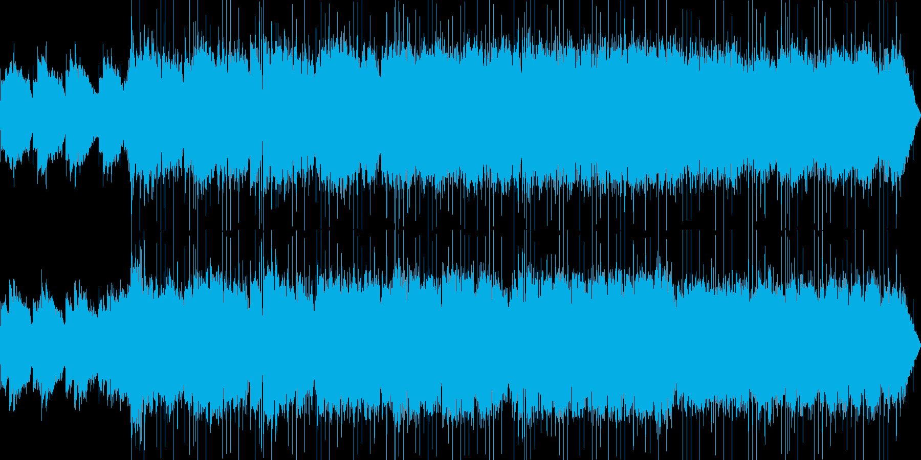 エレクトロでファンタジーな雰囲気の楽曲…の再生済みの波形