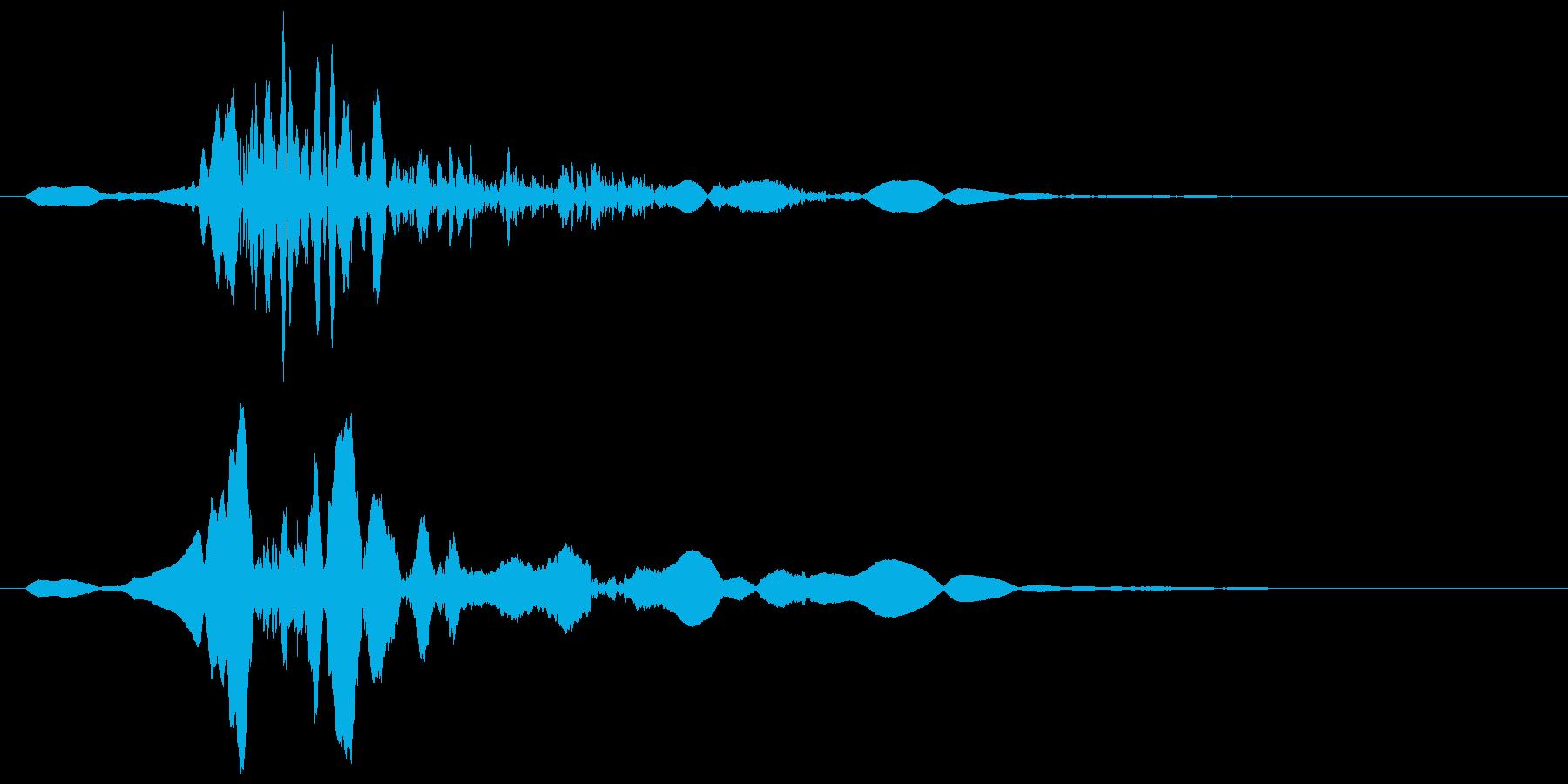 ザッ!というエアーな効果音の再生済みの波形