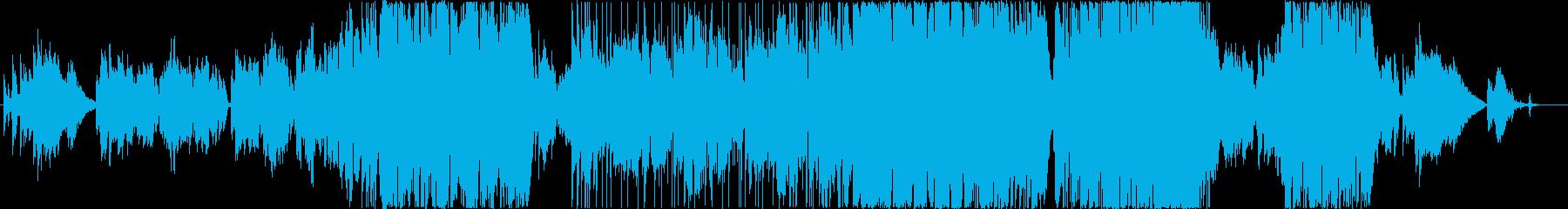 エンディングを思わせる優しいバラードの再生済みの波形