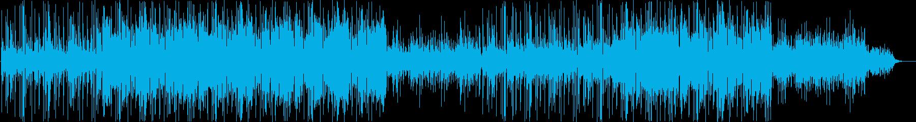 背景に溶け込むミニマルな電子音楽の再生済みの波形