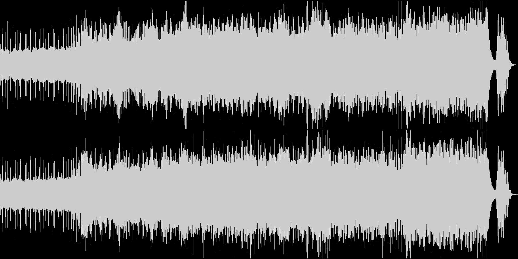 不安げなアルペジオから始まるBGMの未再生の波形