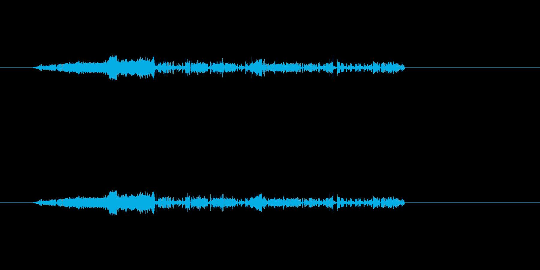 ノイズ(電気)の音の再生済みの波形