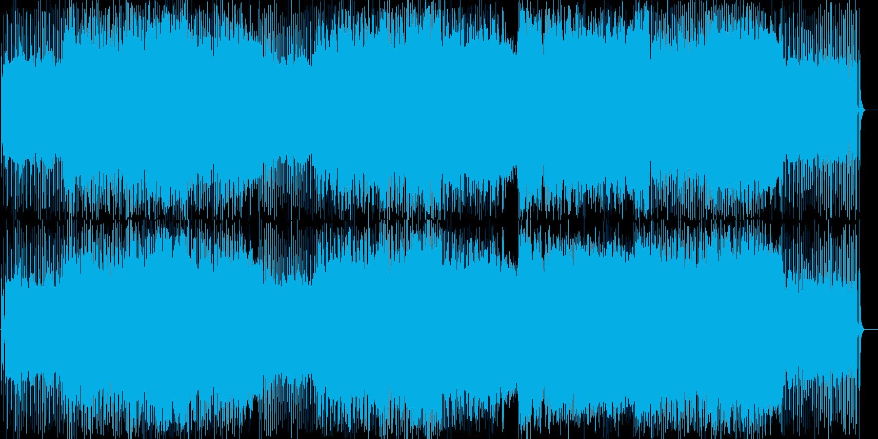 情熱的で疾走感のあるロックの再生済みの波形