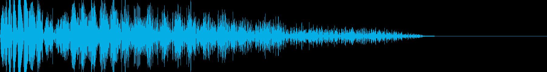 バシッ(打撃音)の再生済みの波形