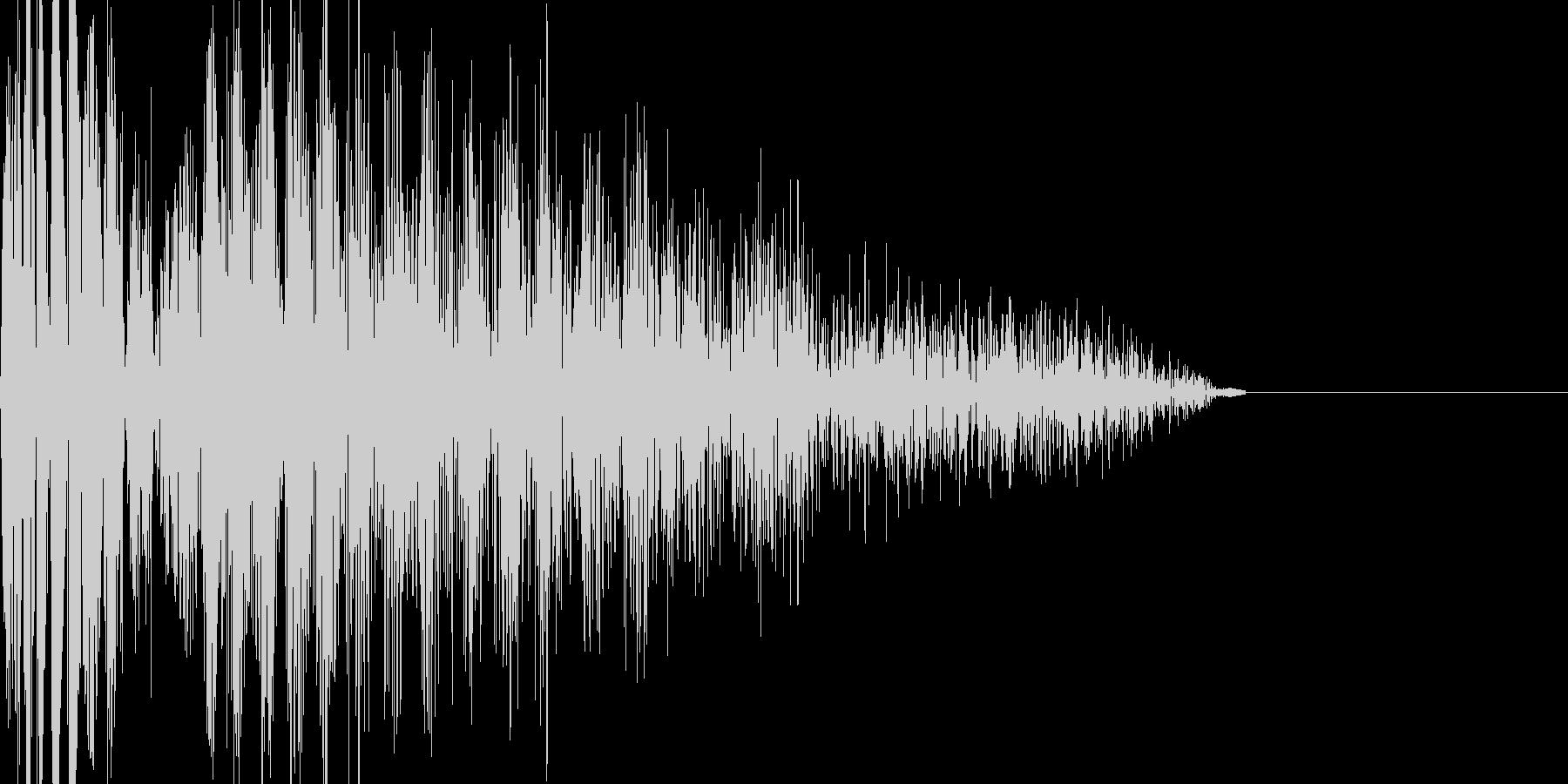 バシッ(打撃音)の未再生の波形