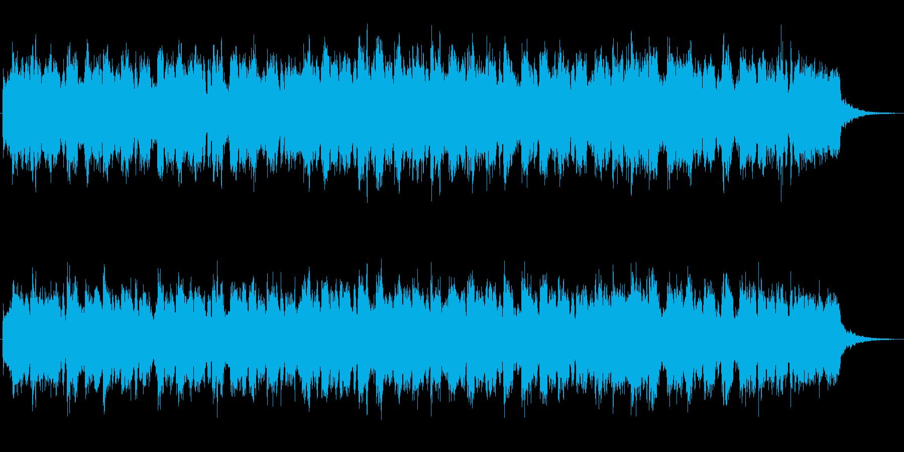 シンセブラスの印象的なプログレ風ジングルの再生済みの波形
