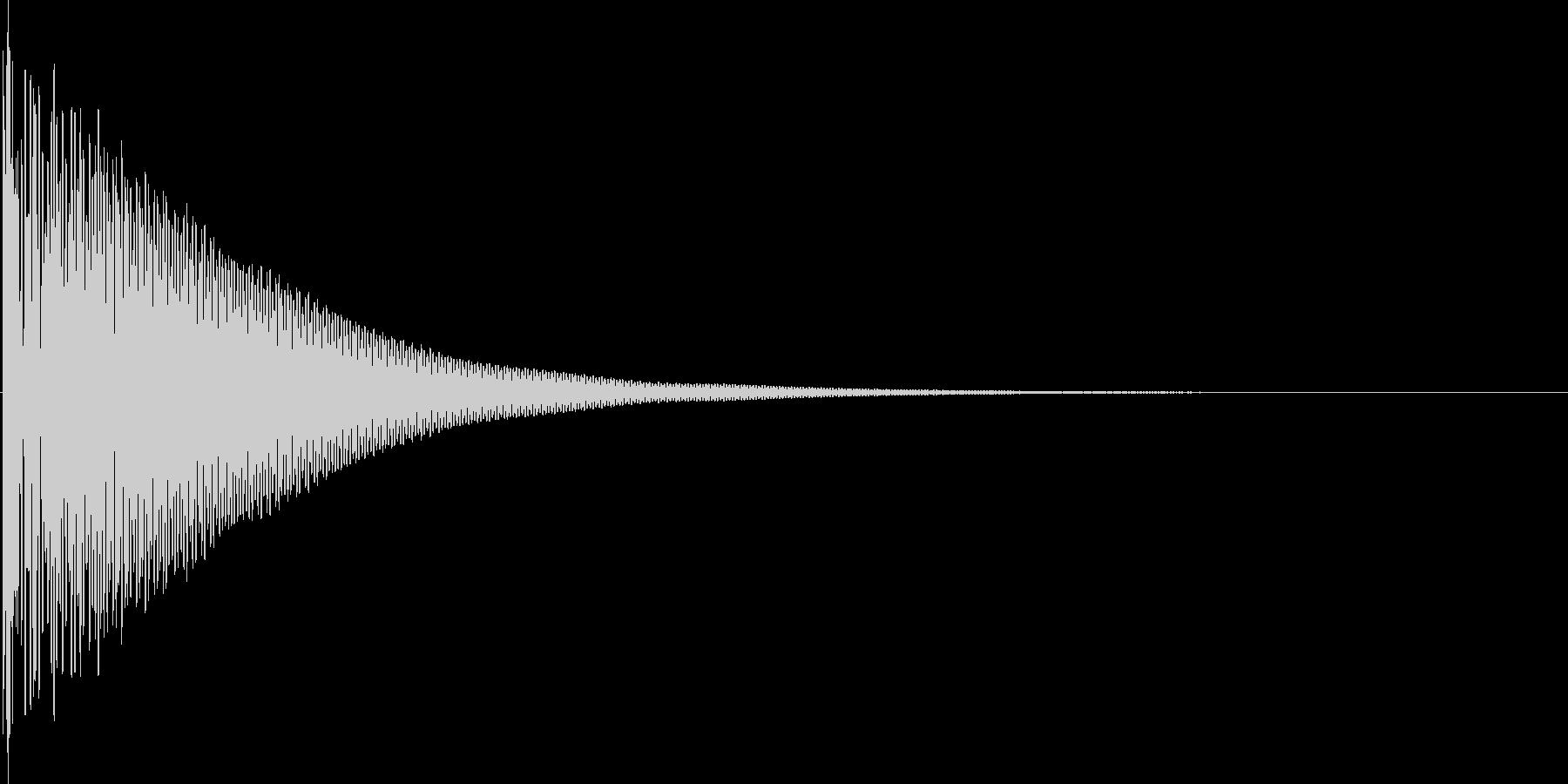 ドン(和太鼓)の未再生の波形