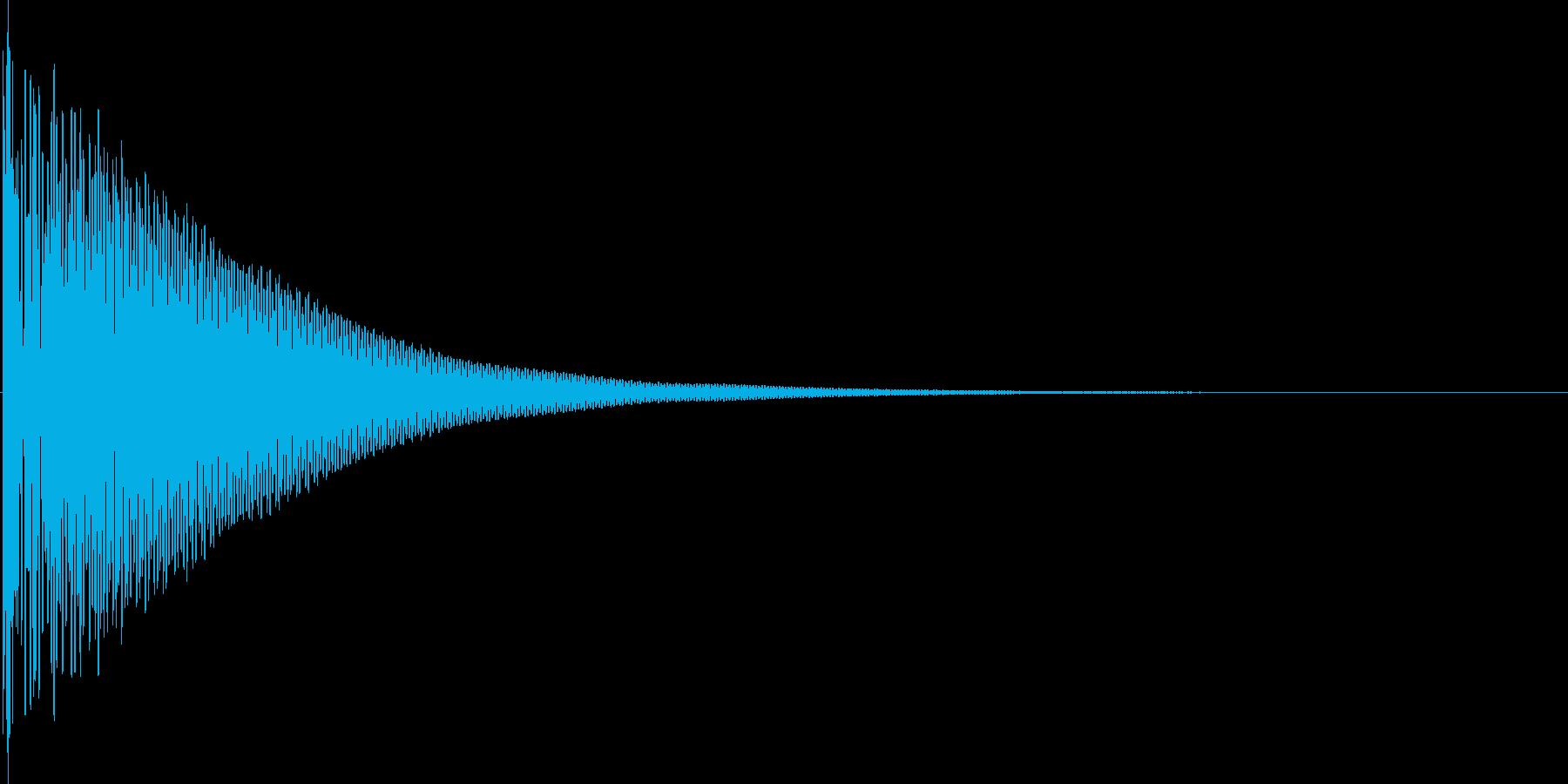 ドン(和太鼓)の再生済みの波形