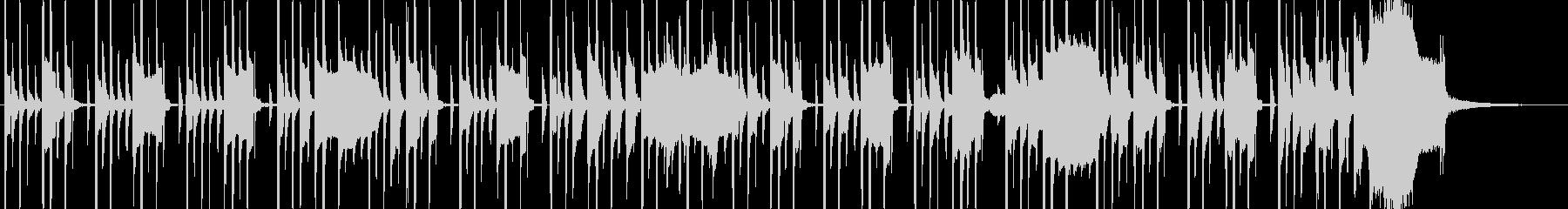 木琴とリコーダーのほのぼのBGMの未再生の波形