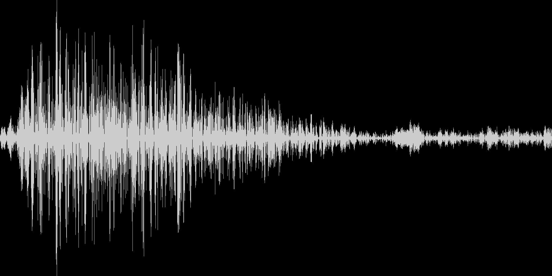 アプリのクリック音の未再生の波形