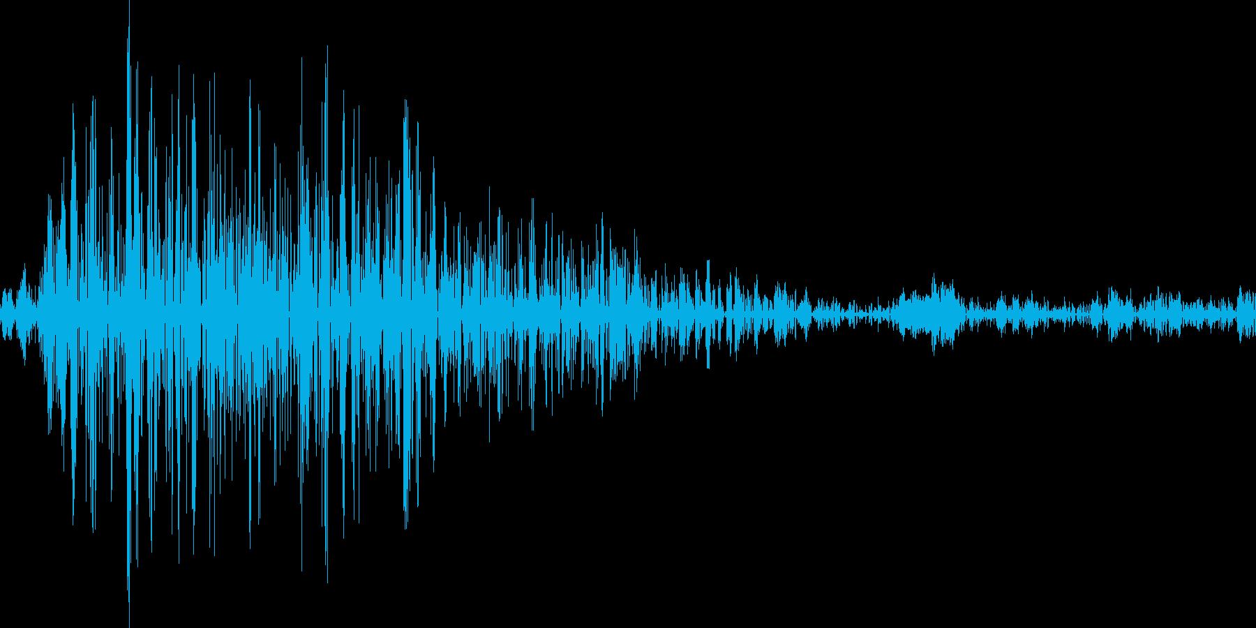 アプリのクリック音の再生済みの波形