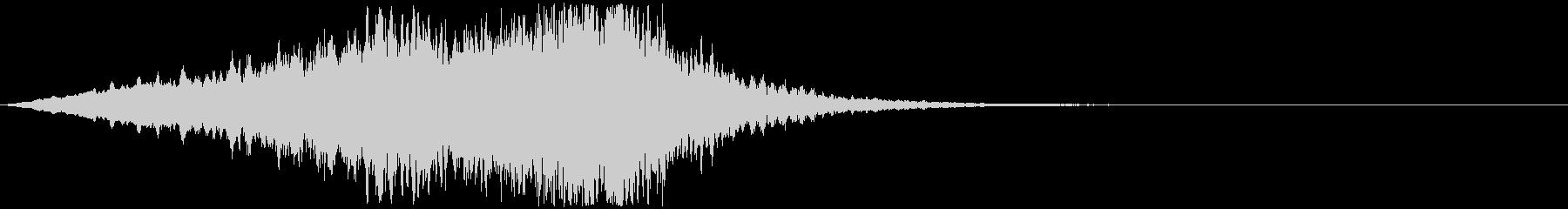 怖い系効果音 キィー 弦楽器の不協和音の未再生の波形