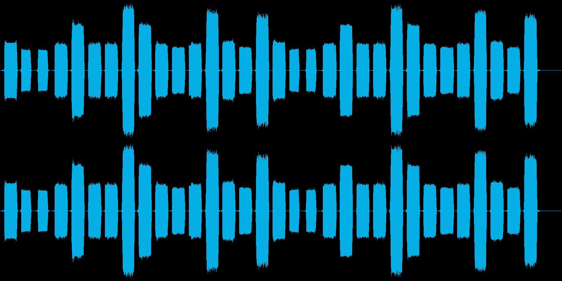 ピコピコとコンピュータを操作する音ですの再生済みの波形