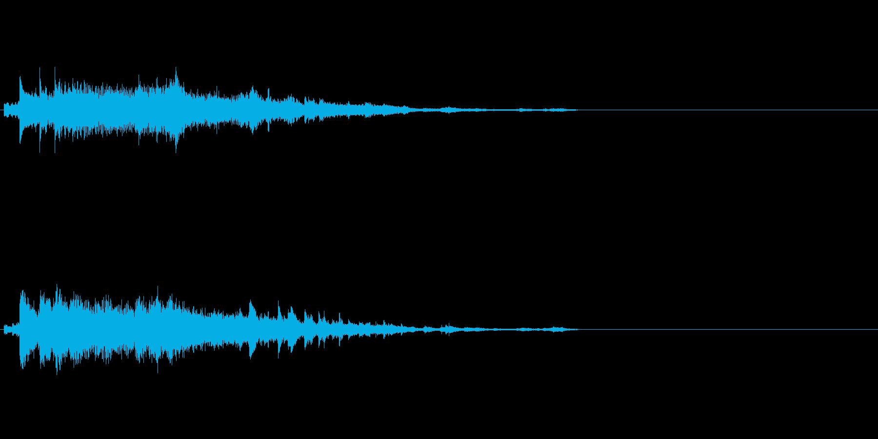 複数音が混じったゴージャスなキラキラキ…の再生済みの波形
