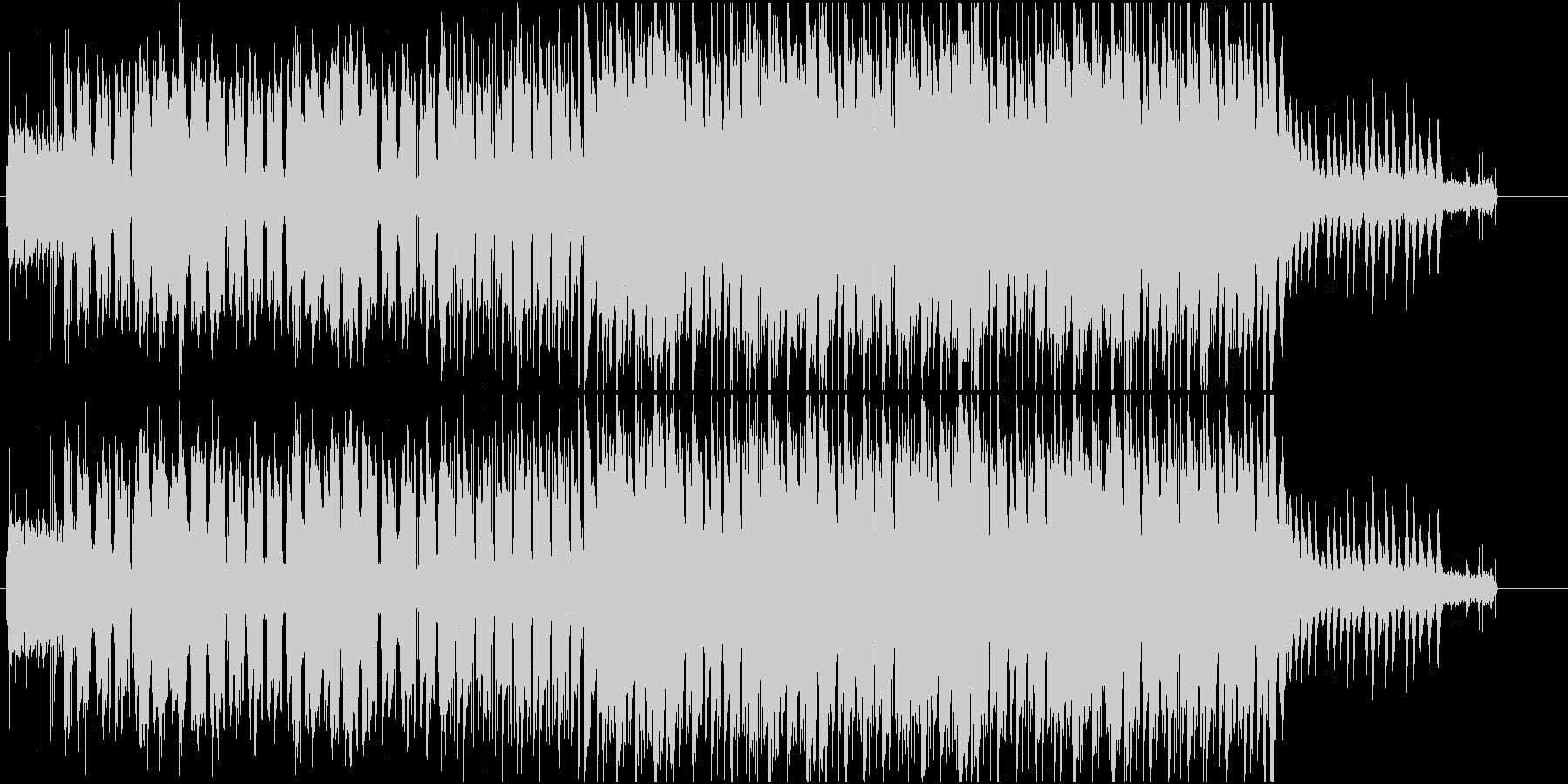 レトロでアナログなちょっぴり切ないワルツの未再生の波形