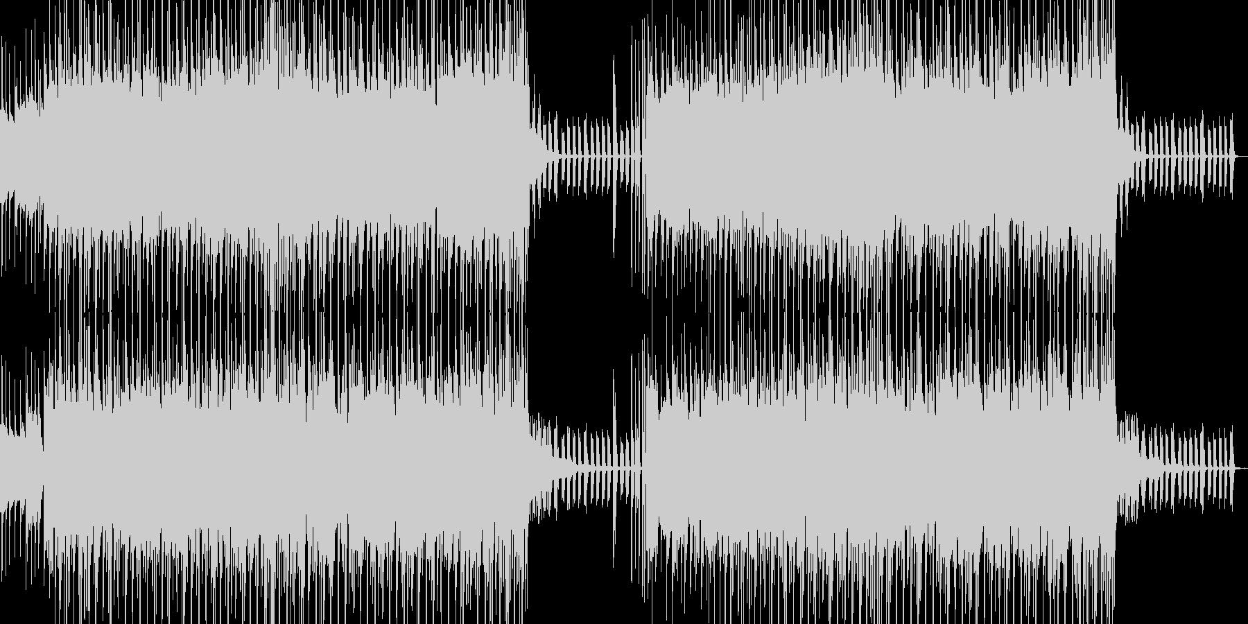 エレクトロ系なサウンドでサイエンス風の未再生の波形