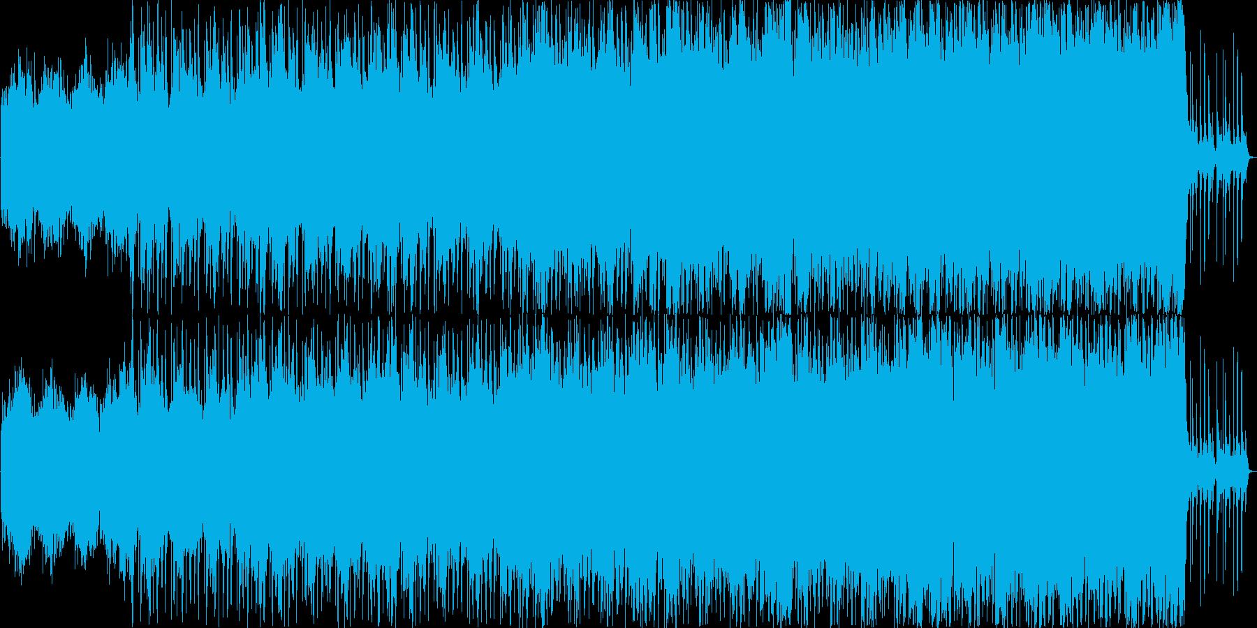 大きな戦いに赴く戦士たちをイメージした曲の再生済みの波形