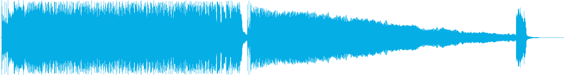 スピード感のあるギターロック短めジングルの再生済みの波形