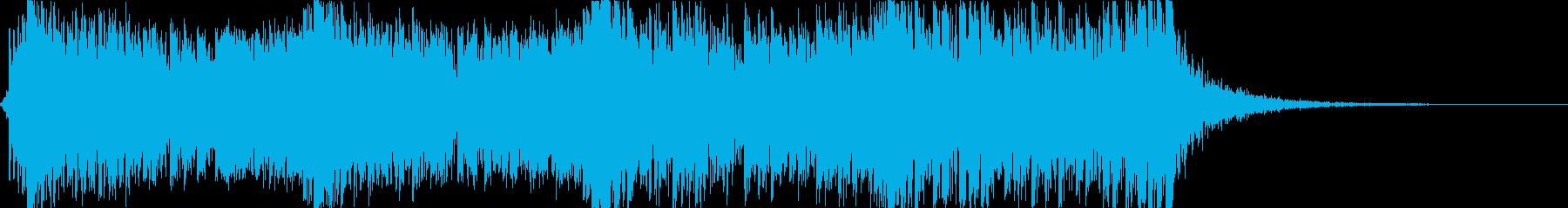 迫力あるシネマティックパーカッション01の再生済みの波形