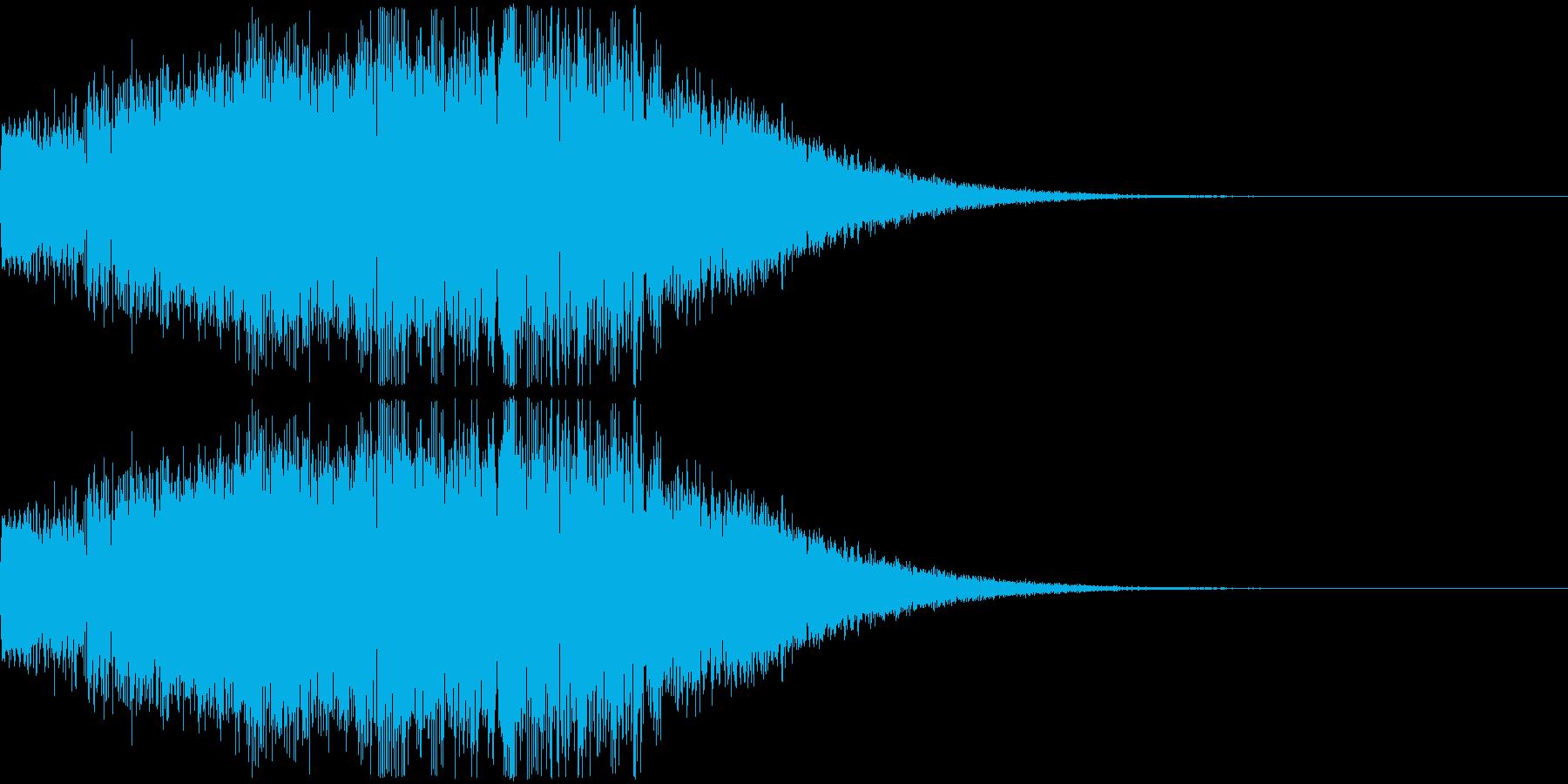 アニメにありそうなエネルギーの爆発音の再生済みの波形