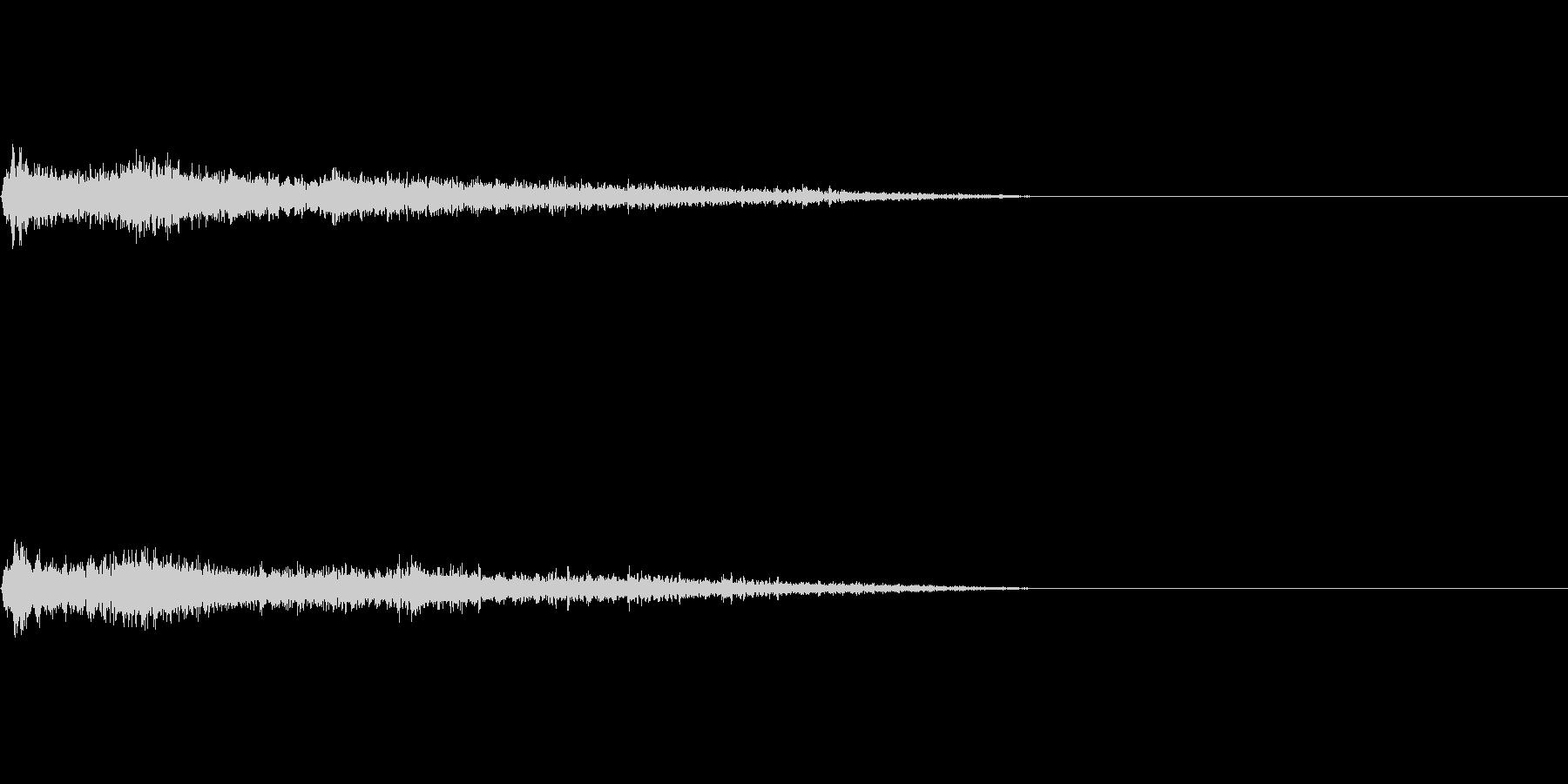 Eマイナーインパクト音 衝撃音の未再生の波形