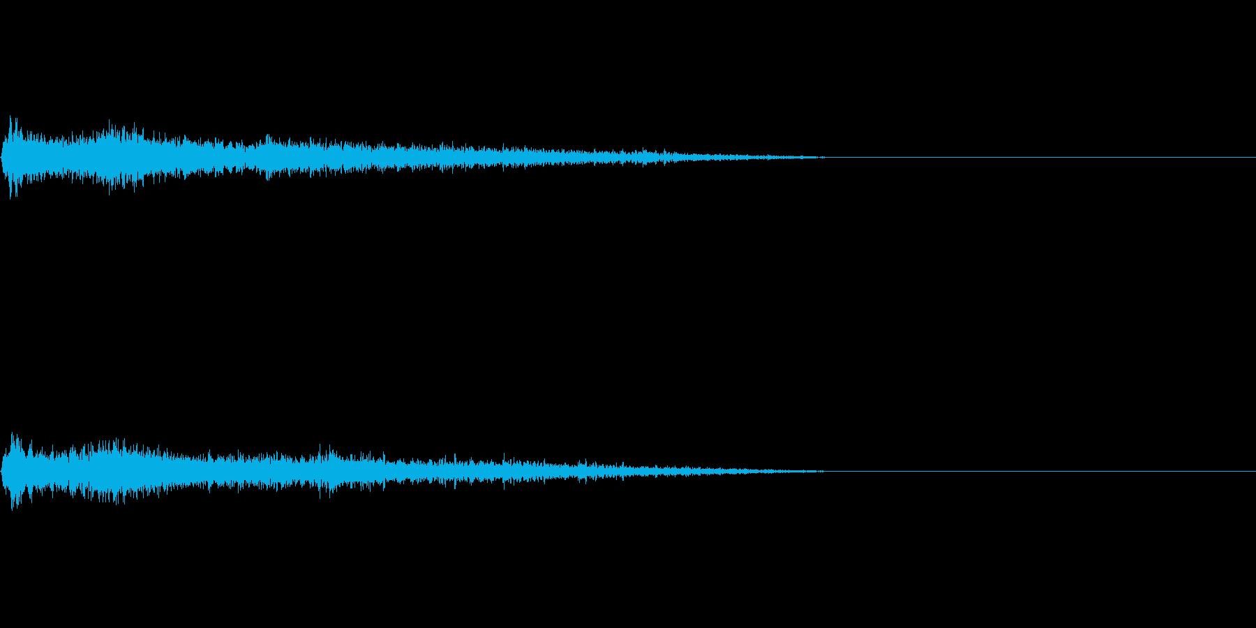 Eマイナーインパクト音 衝撃音の再生済みの波形