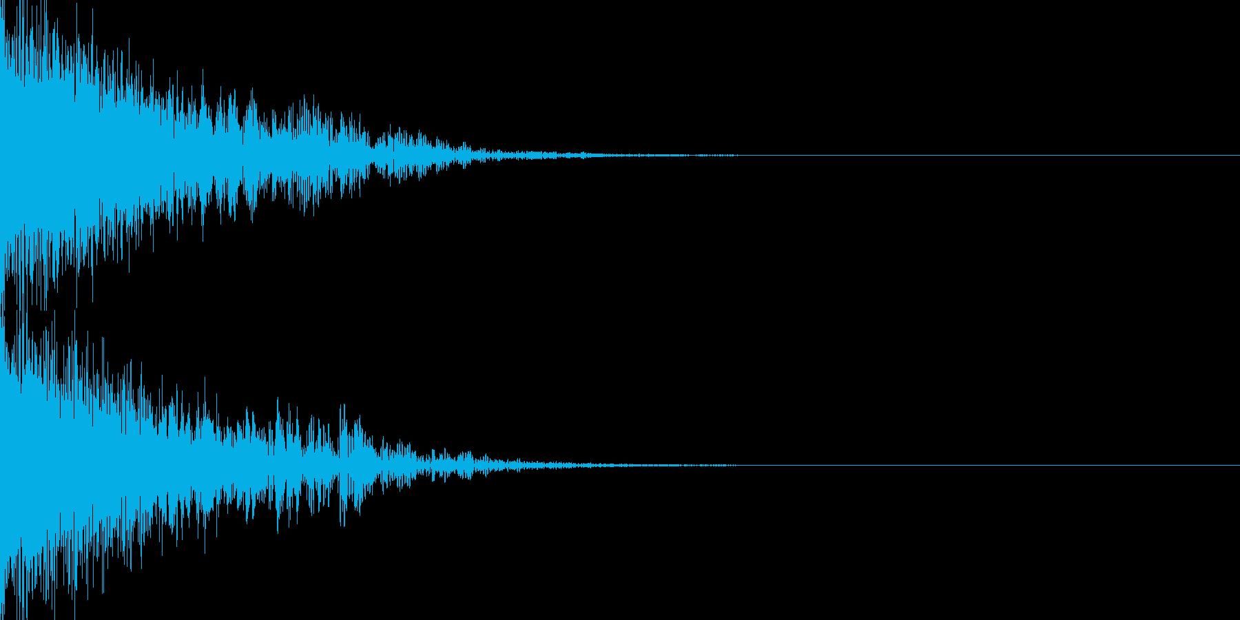ピューン(SF調の重厚な下降音)の再生済みの波形