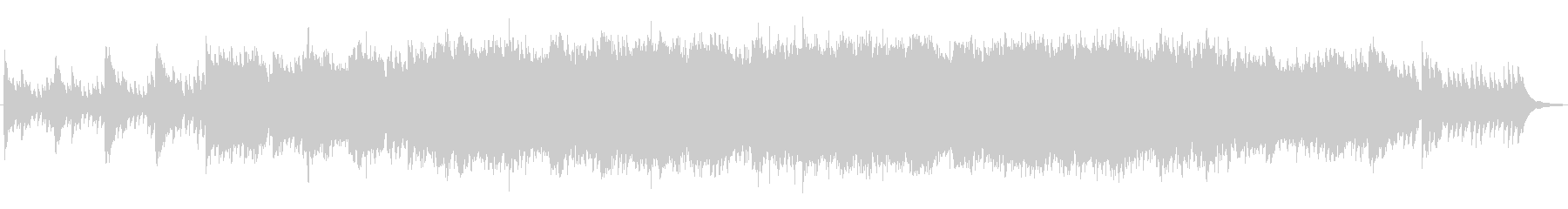 01 ENDING PIANO&TVCMの未再生の波形