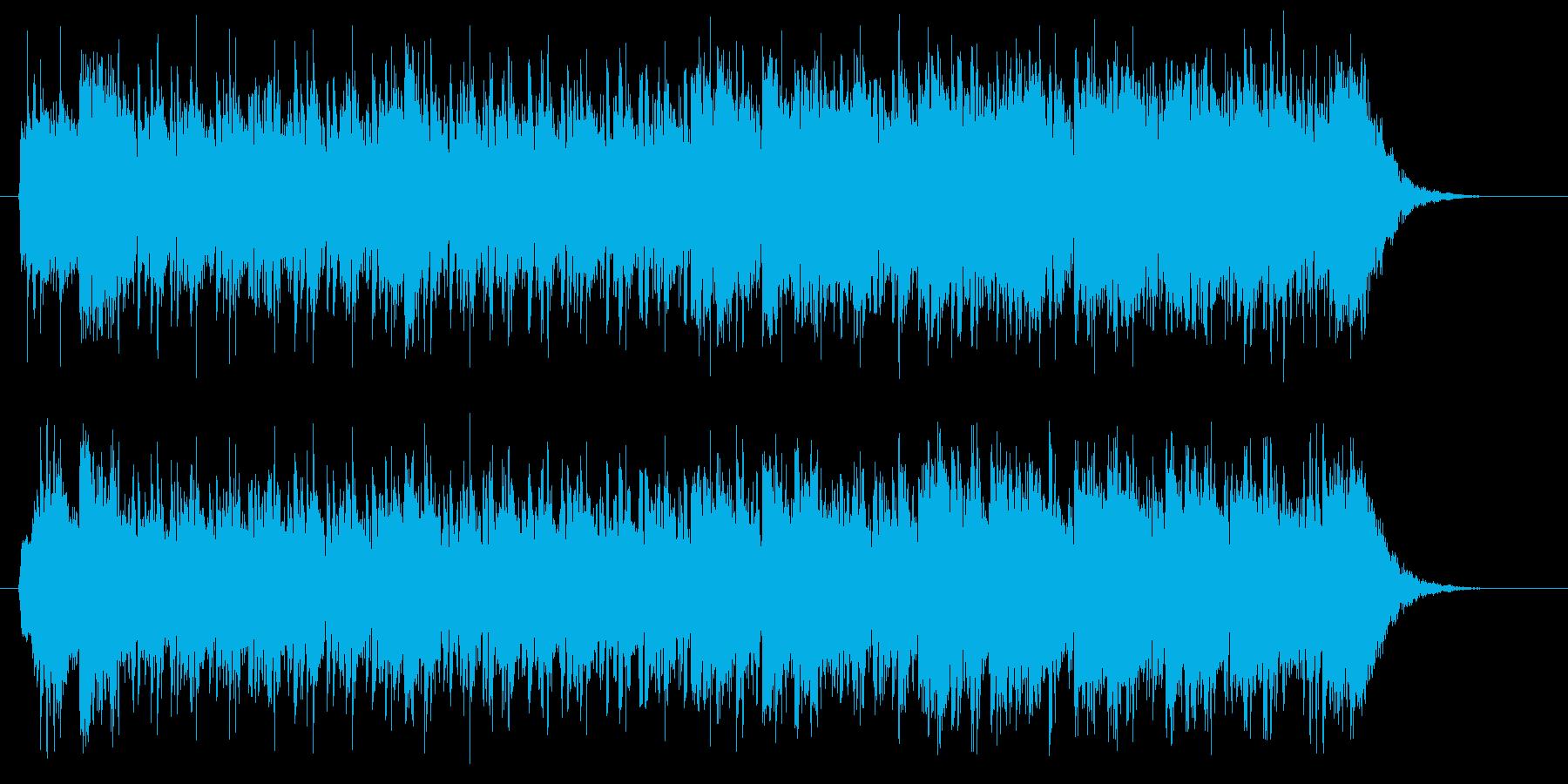 疾走感のあるかっこいい音楽の再生済みの波形