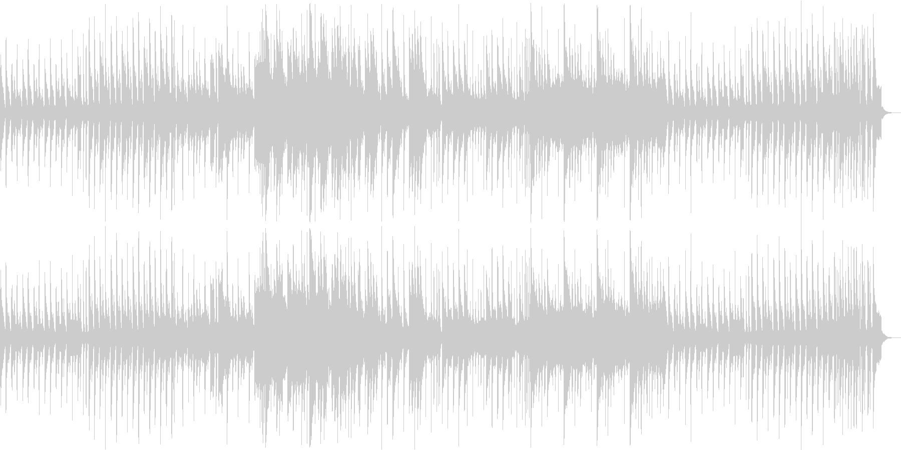 8bitメルヘン、コミカル 1コーラス版の未再生の波形