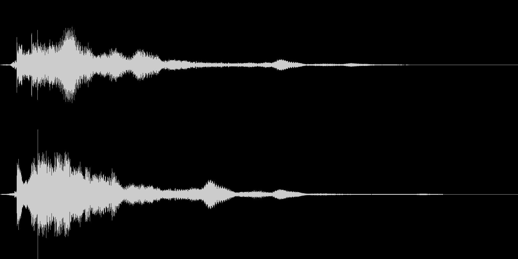 キラキラ → シュワーなアプリ決定音の未再生の波形