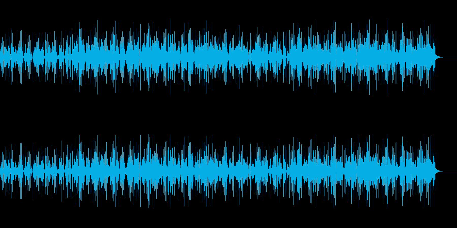 クイズが出されて考え中のクールなBGMの再生済みの波形