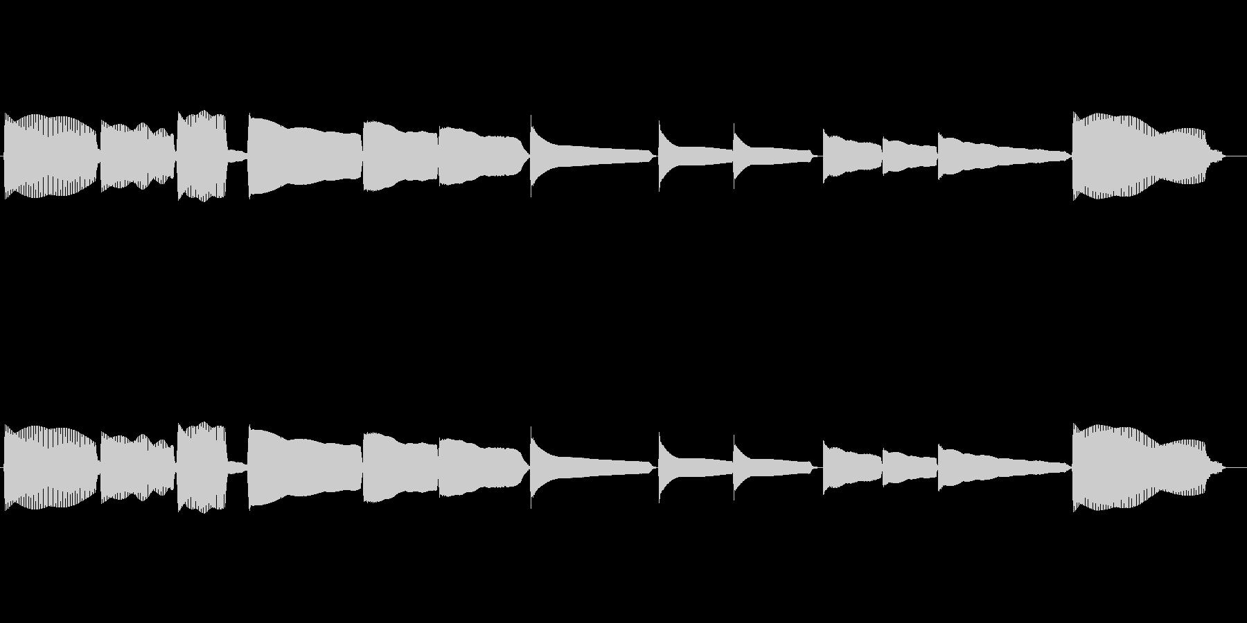 エレキベースのチューニング音の未再生の波形