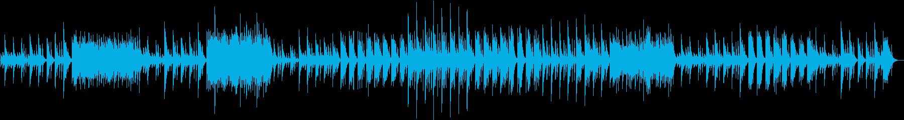 クラシカルなピアノの再生済みの波形