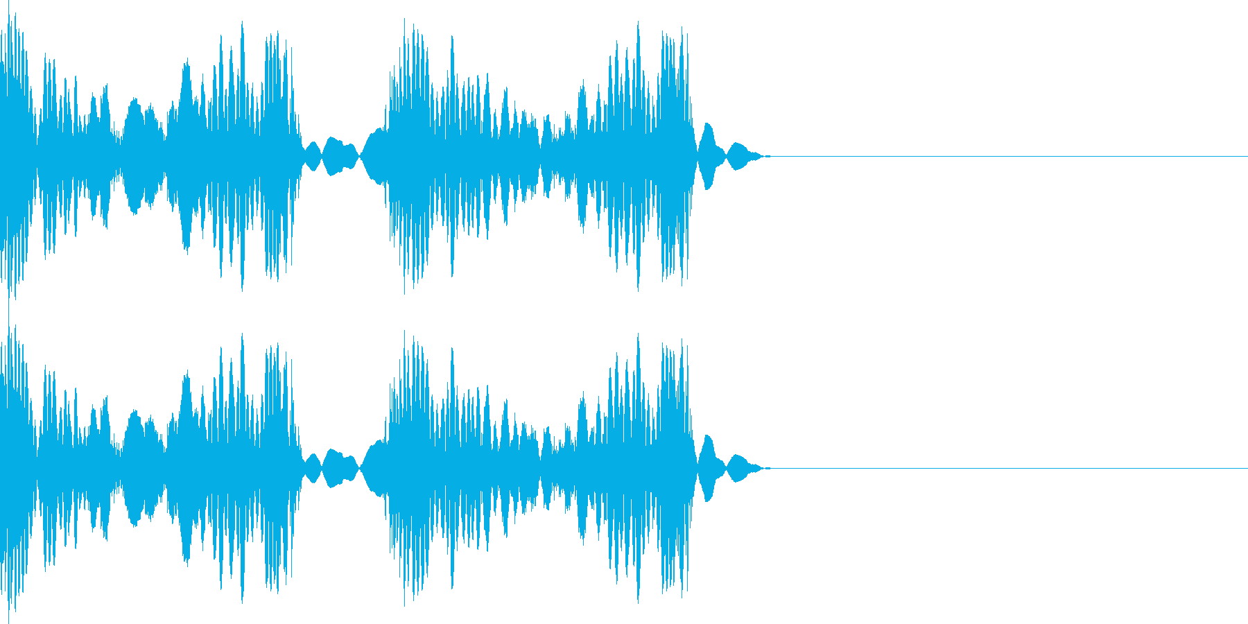 スクラッチ 音の再生済みの波形