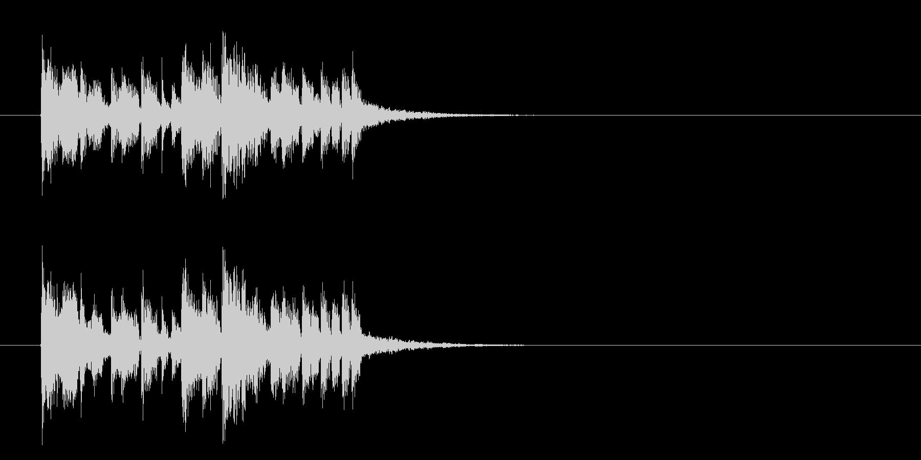 マイナーエレクトロアタックのジングルの未再生の波形