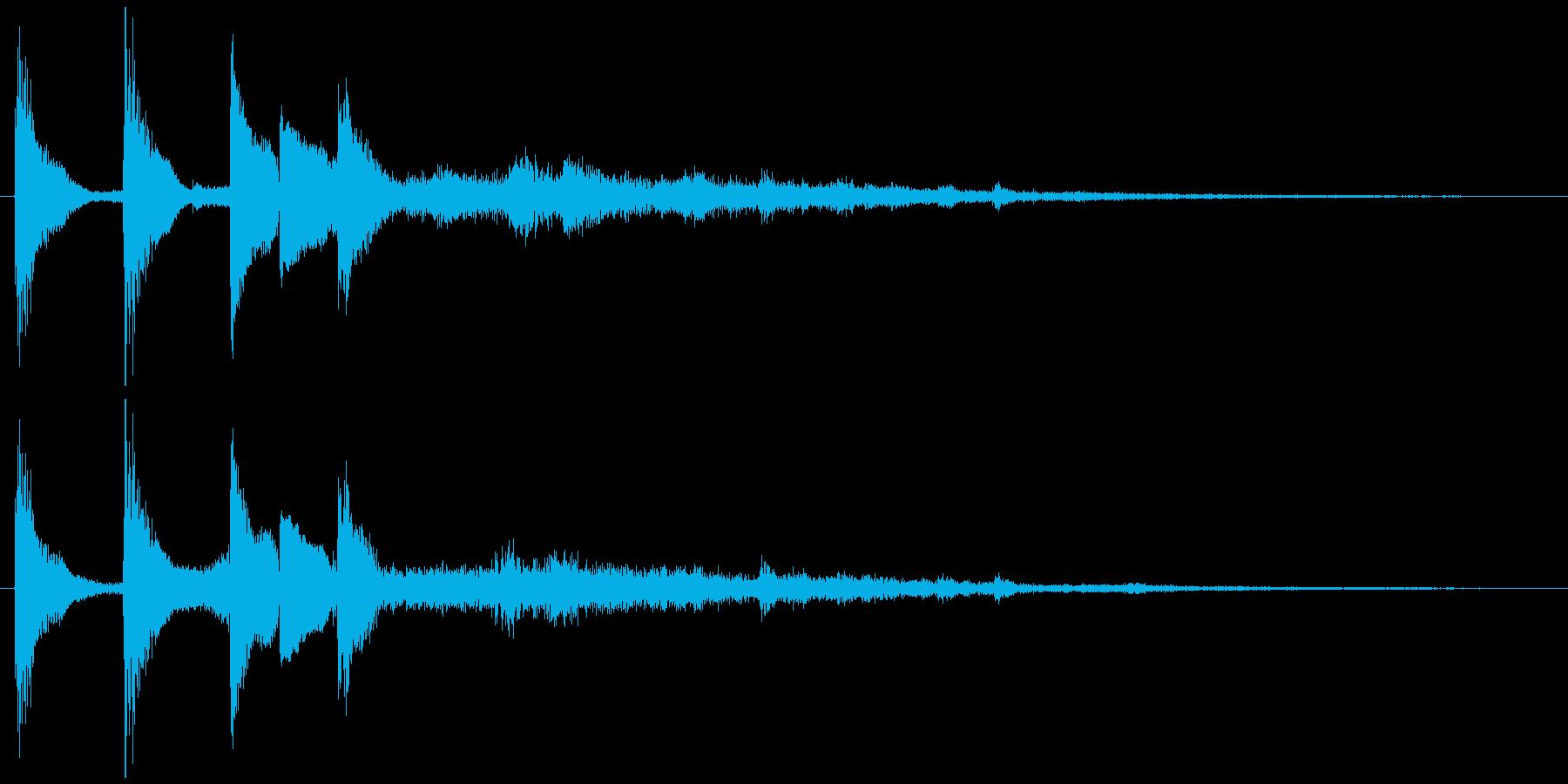 通知音・着信音風ジングル7の再生済みの波形