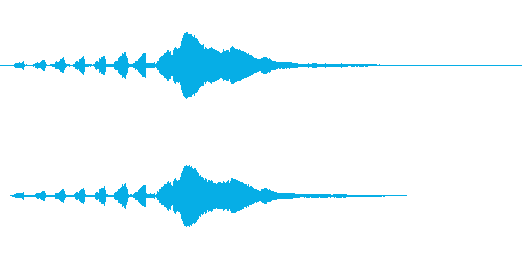 スライドホイッスル-2の再生済みの波形