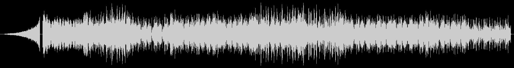 激しくかっこいいエレクトロBGMの未再生の波形